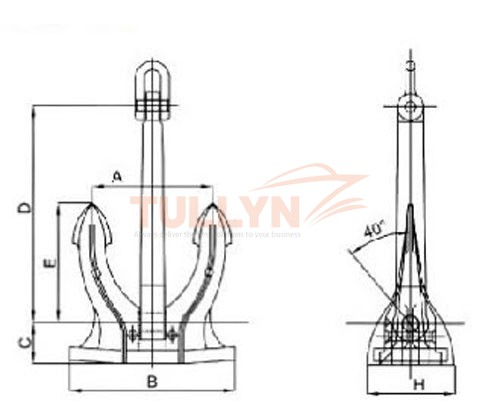 Type M Marine SPEC Anchor Drawing