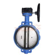 Worm Gear Wafer Soft Seal Butterfly Valve