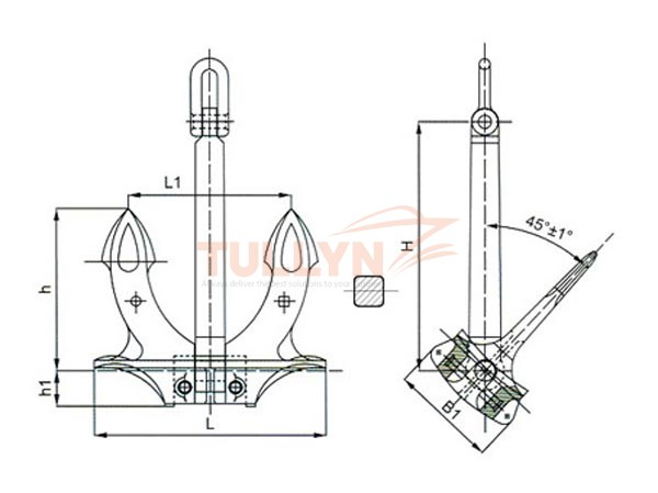 Type A Hall Anchor Drawing