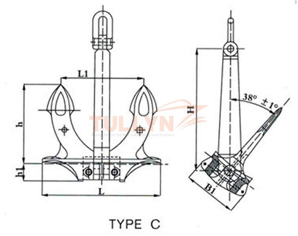 Type C Hall Anchor Drawing